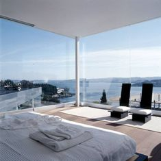 bedroom with an unreal view