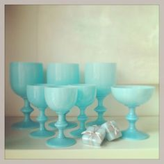 Antique French Opaline Glasses from Heather Ross { natural eclectic }  photo Heather Ross