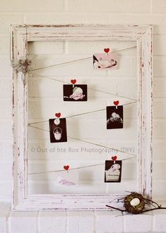 DIY tutorial for shabby chic frame.  Very pretty way to display wedding photos of parents and grandparents. by DreamDayInvitations