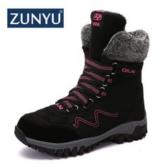 Winter Women Genuine Leather Wedges Snow Boots Wool Fur Ankle Boots Warm Shoes Women Boots Fashionable And Attractive Packages 35-43 Strict Plus Size