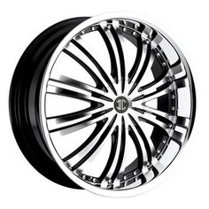 No 1 Black/Machined w/ Chrome Lip  - One of the newer and quickly growing wheel companies out there is 2 Crave wheels. With a variety of different finishes on their styles, with 2 Crave you always have a good choice for your vehicle. Introducing the No 1 BLACK/MACHINED W/CHROME LIP. Make 2 Crave Wheels your next Wheel and Tire Package choice. http://www.kxwheels.com/