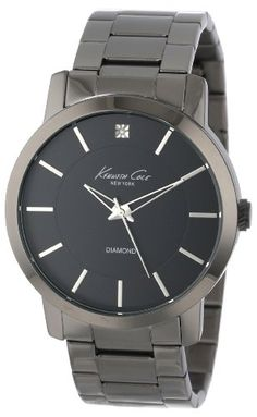 """Kenneth Cole New York Men's KC9286 """"Rock Out"""" Stainless Steel Diamond-Accented Watch Kenneth Cole New York"""