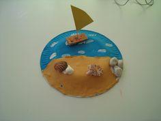Paper plate beach summer craft