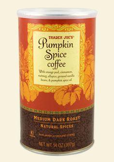 I love Trader Joe's & I love pumpkin AND I love coffee - it's the perfect match