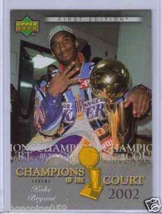 2007/08 Upper Deck Champions of the Court 2002 Kobe Bryant.