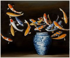 david-kroll-koi-and-blue-and-white-vase.jpg 518×430 pixels