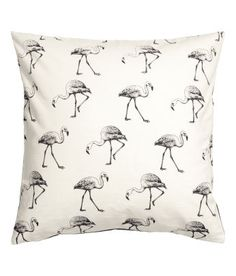 Flamingo Print Cushion cover in slub-weave cotton fabric. 9.99  Shop our range of living room online at HM. Add that extra touch of style and flare to your home with accessories from the H&M Home collection.