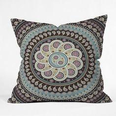 DENY Designs Belle13 Mandala Paisley Throw Pillow Size: