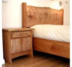Live edge bed and nightstands