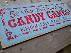Olde Fashioned Candy Canes Christmas wooden sign by dressingroom5, $21.00 Blue Christmas, Christmas Candy, Winter Christmas, Christmas Crafts, Christmas Ideas, Peppermint Christmas Decorations, Outdoor Christmas Decorations, Christmas Parade Floats, Christmas Wooden Signs