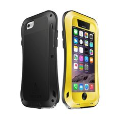 [$20.84] LOVE MEI for iPhone 6 Plus Metal Ultra-thin Small Waist Waterproof Dustproof Shockproof Powerful Protective Case(Yellow)
