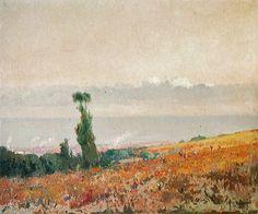 Eliseo Meifrén Roig. Barcelona desde el Tibidabo. Óleo sobre lienzo. Firmado. 92 x 110 cm.
