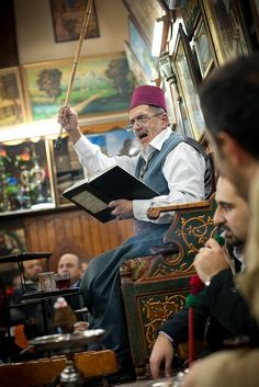 The last working storyteller in Damascus spins his tales at Cafe Nawfora each night in the old city of Damascus...