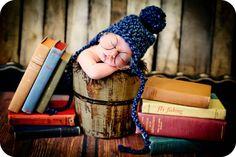 Newborn Photo Prop Baby Boy Hat. $23.00, via Etsy.