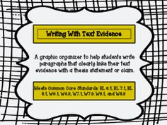 Writing with Textual Evidence - Grades 6,7,8 Giveaway - This product will help your middle level writers incorporate text evidence into their writing. Included in this product are posters, handouts and worksheets to help students in this process. This can be used with any writing where students are citing textual evidence. .  A GIVEAWAY promotion for Writing with Text Evidence - Common Core from PensiveChatter on TeachersNotebook.com (ends on 4-15-2015)