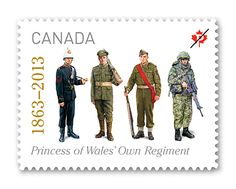 2013 Canada Post - The Princess of Wales' Own Regiment    On the front line is our stamp celebrating the 150th anniversary of this storied regiment.