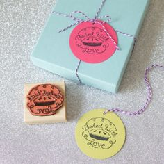 Baked with Love - Gift Tag Stamp Set – The Chatty Press