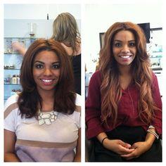 #PrimpandBlow before and After hair extensions! www.PrimpandBlow.com