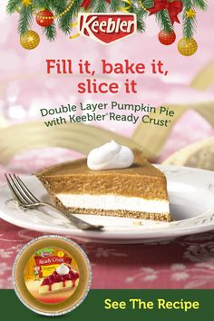 Keebler® Ready Crust® makes holiday baking easy and tastes amazing. It's the perfect foundation for all y Keebler® Ready Crust® makes holiday baking easy and tastes amazing. It's the perfect foundation for all your recipes. Tap the Pin to get started. Easy Pie Recipes, Pumpkin Pie Recipes, Pound Cake Recipes, Chicken Recipes, Macaroon Recipes, Cupcake Recipes, Dessert Recipes, Dessert Ideas, Double Layer Pumpkin Pie
