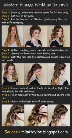 Vintage Wedding Hairstyle | Beauty Tutorials