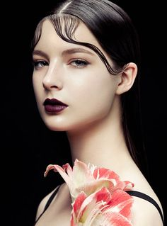 Models with beauty looks colorful flowers in the glossy snaps for Harper's Bazaar Vietnam Magazine October 2015 issue Photoshoot