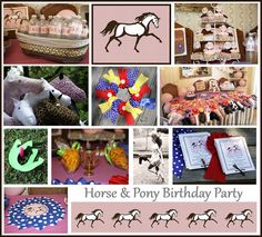 Adasperdown on the Farm: Horses and Ponies Everywhere! Our Horse Themed Birthday Party!