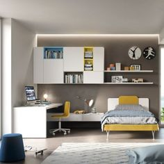 20 Gorgeous Small Kids Bedroom Ideas With Study Table Childrens Bedroom Furniture, Bed Furniture, Office Furniture, Furniture Design, Teenage Room, Small Teenage Bedroom, Home And Deco, My New Room, Boy Room