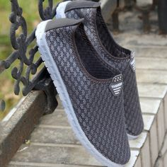 9ed06cf5328fb8 2015 fashion mens mesh casual shoes breathable new shoes simulation summer  shoes man casual black grey