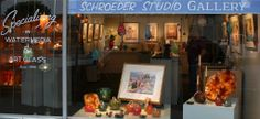 Beautiful paintings by mom, and wonderful glass items by daughter.  They also have many local artist work for sale.