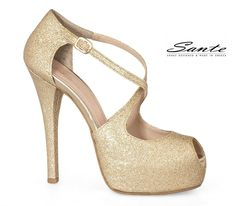 Shop our range of shoes today on the official SANTE women's shoes website. Discover the latest collection of SANTE - Made in Greece Peep Toe Pumps, Shoe Shop, Gold Glitter, Online Boutiques, Shoes Heels, How To Make, Shopping, Women, Fashion