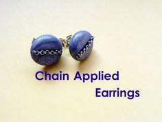 """Fast and Easy"" # 2 - Chain Applied Earrings (Polymer Clay Tutorial) - http://videos.silverjewelry.be/earrings/fast-and-easy-2-chain-applied-earrings-polymer-clay-tutorial/"