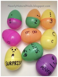 DIY Learning Game Easter Eggs