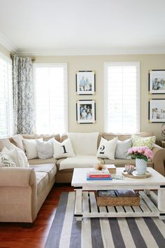 Charming Home Tour ~ A Thoughtful Place - Town & Country Living My Living Room, Home And Living, Living Room Decor, Living Spaces, Living Room Inspiration, Home Decor Inspiration, Casual Family Rooms, A Thoughtful Place, Family Room Design