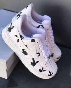 Playboy AF1 | Etsy Dr Shoes, Cute Nike Shoes, Swag Shoes, Cute Nikes, Cute Sneakers, Hype Shoes, Shoes Jordans, Women's Sneakers, Nike Free Shoes