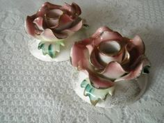 Vintage Victorian Candlestick Holders Romantic Candle Holder Shabby Chic Love Roses