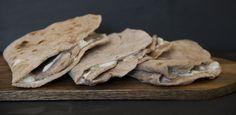 Austrian flatbread (Feuerflecken) - rustic rye sourdough filled with sourcream, garlic and herbs Rye, Garlic, Stuffed Mushrooms, Food And Drink, Herbs, Rustic, Vegetables, Alps, Chef Recipes