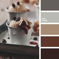 Farbschema | Schwarz Beige Braun Blau Grau
