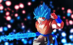 Download wallpapers Goku, sword, 4k, DBS, manga, art, Dragon Ball Super