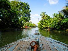 Backwaters boat tour, Kerala, India