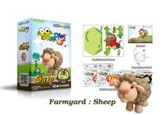 Create Your Own Toy Sheep with our Step-by-step Farmyard Series - 6 to collect.