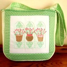 """French Lavender Handbag"" Using the designs and how-to in this pretty set, you'll create a handbag measuring 9 by 12 inches, featuring a zippered closure, fashionable enough for a day of shopping and fun! Machine Embroidery Projects, Embroidery Software, Custom Embroidery, Embroidery Thread, French Lavender, Soft Purple, A Boutique, Free Design, Pattern Design"