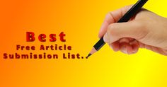 Free Top Article Submission Sites List 2015
