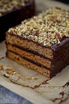 Polish Desserts, Polish Recipes, Sweet Recipes, Cake Recipes, Dessert Recipes, Vegan Tiramisu, European Dishes, Biscuits, Gingerbread Cake