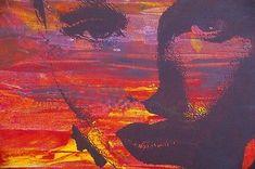 Framed Canvas Street  graffiti Urban  Art Print  woman  face purple licensed