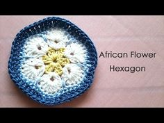 how to change color アフリカンフラワーモチーフの編み方 * African Flower Hexagon Crochet Motif * - YouTube