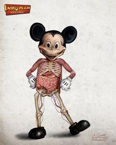 The Anatomy Of Popular Disney Characters - DesignTAXI.com