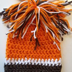 Cleveland Browns Infant Football Sports Crochet Beanie Hat with Pom Poms | eBay