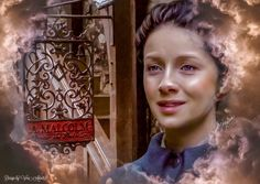 I stretched out my hand & touched the black letters of the name. A. Malcolm.  I shoved open the door and walked in. #outlander #Outlander3