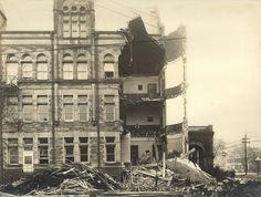Steele High School, Dayton, OH - 1913 Flood by Dayton Metro Library Local History,