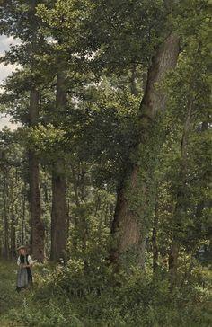 Eichwald (Oak Forest), Robert Zünd. Swiss (1827 - 1909)